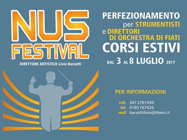 Nus Festival - Corsi di Perfezionamento per Strumentisti e Direttori d'orchestra a fiati