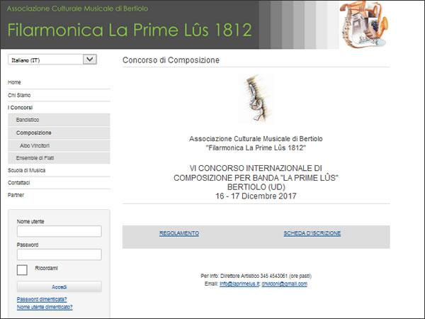 """VI Concorso Internazionale di Composizione per Banda """"La Prime Lûs"""""""