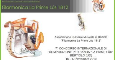 """VII Concorso Internazionale di Composizione per Banda """"La Prime Lûs"""""""