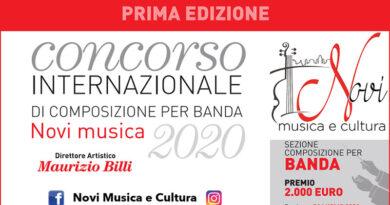 I Concorso Internazionale di Composizione per Banda NoviMusica 2020